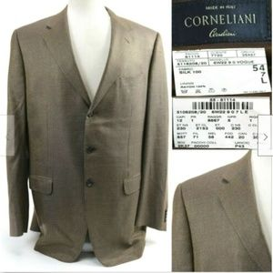 Corneliani Men's Blazer Sport Coat Size 44L Tan
